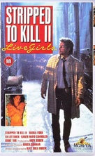 Stripped to Kill II: Live Girls - British VHS cover (xs thumbnail)