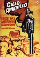 Yellow Sky - Spanish Movie Poster (xs thumbnail)