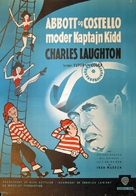 Abbott and Costello Meet Captain Kidd - Danish Movie Poster (xs thumbnail)