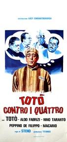 Totò contro i 4 - Italian Movie Poster (xs thumbnail)