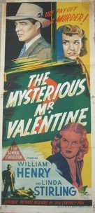 The Mysterious Mr. Valentine - Australian Movie Poster (xs thumbnail)