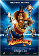 Madagascar 3: Europe's Most Wanted - Slovak Movie Poster (xs thumbnail)