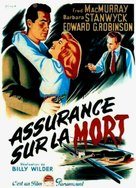 Double Indemnity - French Theatrical poster (xs thumbnail)