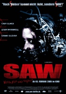Saw - German Movie Poster (xs thumbnail)