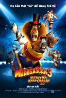 Madagascar 3: Europe's Most Wanted - Vietnamese Movie Poster (xs thumbnail)