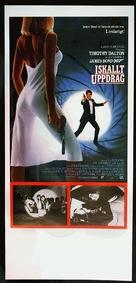 The Living Daylights - Swedish Movie Poster (xs thumbnail)