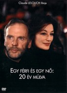 Un homme et une femme, 20 ans déjà - Hungarian DVD cover (xs thumbnail)