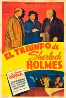 The Triumph of Sherlock Holmes - Argentinian Movie Poster (xs thumbnail)