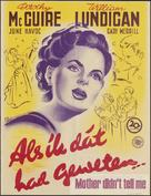 Mother Didn't Tell Me - Dutch Movie Poster (xs thumbnail)