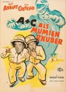 Abbott and Costello Meet the Mummy - German Movie Poster (xs thumbnail)