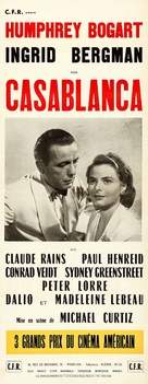 Casablanca - French Re-release movie poster (xs thumbnail)