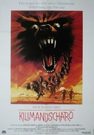 In the Shadow of Kilimanjaro - German Movie Poster (xs thumbnail)