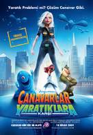 Monsters vs. Aliens - Turkish Movie Poster (xs thumbnail)