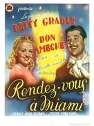 Moon Over Miami - Belgian Movie Poster (xs thumbnail)