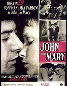 John and Mary - Swedish Movie Poster (xs thumbnail)