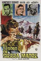 The Treasure of the Sierra Madre - Spanish Re-release movie poster (xs thumbnail)