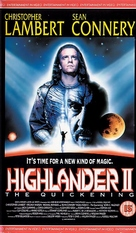 Highlander 2 - British VHS movie cover (xs thumbnail)