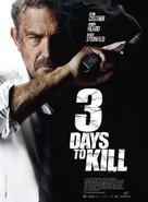3 Days to Kill - French Movie Poster (xs thumbnail)