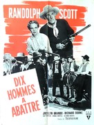 Ten Wanted Men - French Movie Poster (xs thumbnail)