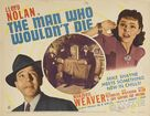 The Man Who Wouldn't Die - Movie Poster (xs thumbnail)