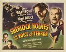 Sherlock Holmes and the Voice of Terror - Movie Poster (xs thumbnail)