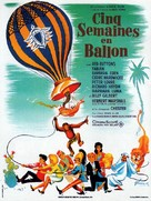 Five Weeks in a Balloon - French Movie Poster (xs thumbnail)