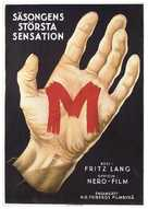 M - Swedish Movie Poster (xs thumbnail)