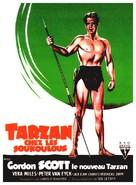 Tarzan's Hidden Jungle - French Movie Poster (xs thumbnail)