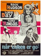 Send Me No Flowers - Danish Movie Poster (xs thumbnail)