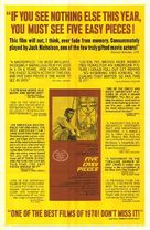 Five Easy Pieces - Movie Poster (xs thumbnail)