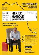 Her er Harold - Danish Movie Poster (xs thumbnail)