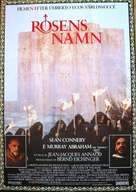The Name of the Rose - Swedish Movie Poster (xs thumbnail)