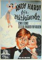 Andy Hardy Gets Spring Fever - Swedish Theatrical poster (xs thumbnail)