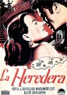 The Heiress - Spanish Movie Poster (xs thumbnail)