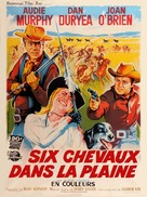 Six Black Horses - French Movie Poster (xs thumbnail)