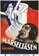La marseillaise - Swedish Movie Poster (xs thumbnail)