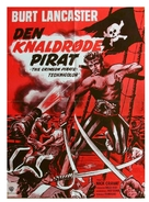 The Crimson Pirate - Danish Movie Poster (xs thumbnail)
