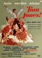 Tom Jones - Danish Movie Poster (xs thumbnail)