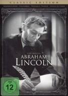 Abraham Lincoln - German DVD movie cover (xs thumbnail)