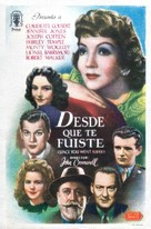 Since You Went Away - Spanish Movie Poster (xs thumbnail)
