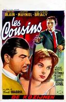 Les cousins - Belgian Movie Poster (xs thumbnail)
