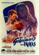 Secret of the Incas - German Movie Poster (xs thumbnail)