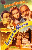 One Hundred Men and a Girl - Spanish Movie Poster (xs thumbnail)