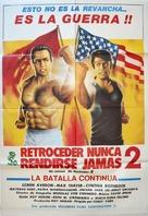 No Retreat No Surrender 2 - Spanish Movie Poster (xs thumbnail)
