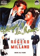 The Major and the Minor - Spanish Movie Poster (xs thumbnail)