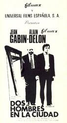 Deux hommes dans la ville - Spanish Movie Poster (xs thumbnail)