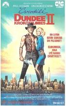 Crocodile Dundee II - Finnish VHS movie cover (xs thumbnail)