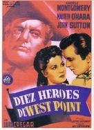 Ten Gentlemen from West Point - Spanish Movie Poster (xs thumbnail)