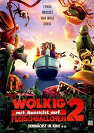 Cloudy with a Chance of Meatballs 2 - German Movie Poster (xs thumbnail)