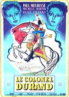 Le colonel Durand - French Movie Poster (xs thumbnail)